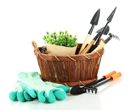 garden tool: Garden tools isolated on white