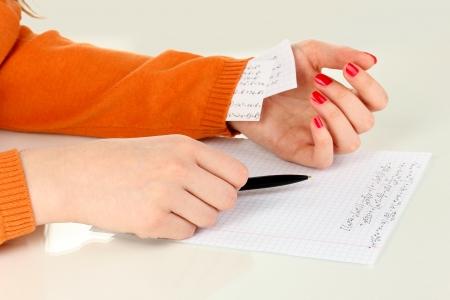 Write off exam isolated on white Stock Photo - 18042799