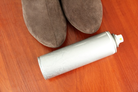 Cleaning suede boots Stock Photo - 18231928