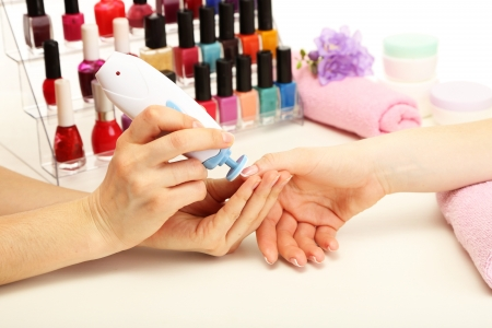 Manicure process in beauty salon, close up Stock Photo - 18448537