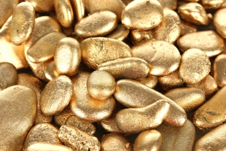 Golden stones close-up Stock Photo - 18474502