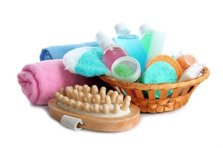 Hotel cosmetics kit isolated on white Stock Photo - 18474739