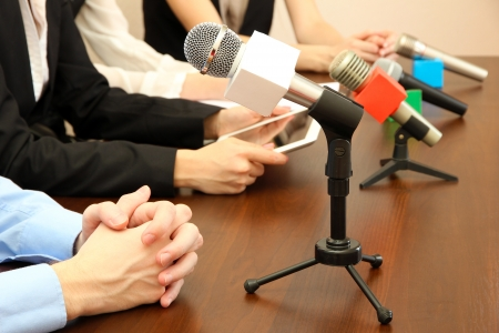 public speaking: Conference meeting microphones