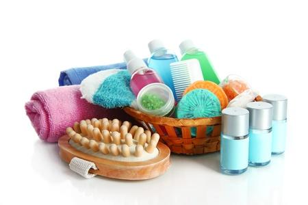 Hotel cosmetics kit isolated on white Stock Photo - 18508462