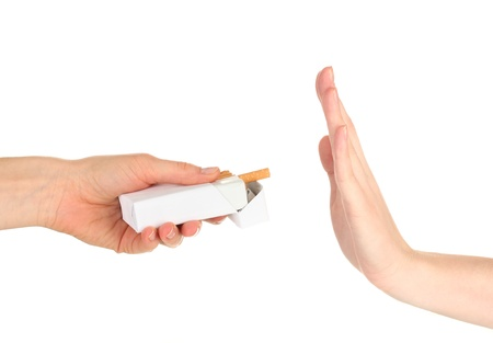 quit smoking: Concept: stop smoking, isolated on white