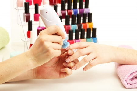 Manicure process in beauty salon, close up Stock Photo - 18608879