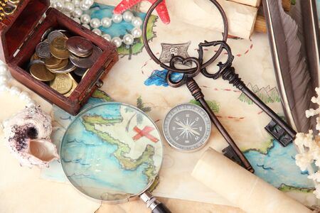 map of treasures background Stock Photo - 18696779