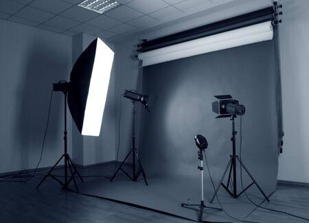Photo studio with lighting equipment photo