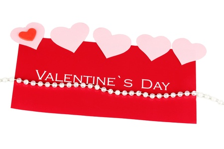 Greeting card for Valentines Day isolated on white photo