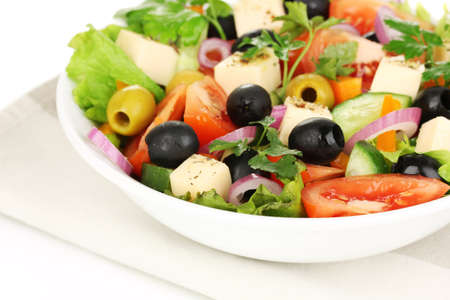 Greek salad in plate close up Stock Photo - 18775450