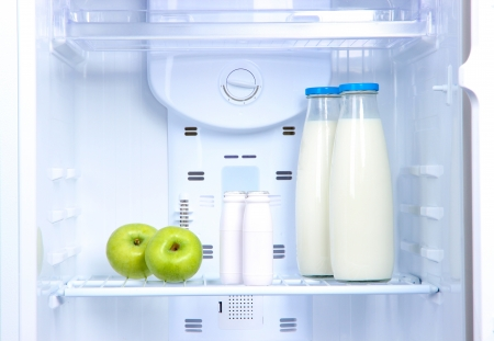 Open refrigerator with diet food Stock Photo - 18848228