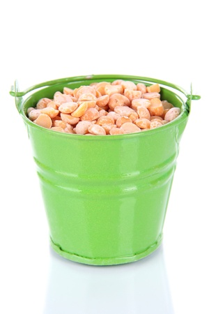 Bucket with grains isolated on white Stock Photo - 18818648