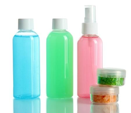 Hotel cosmetics kit isolated on white Stock Photo - 18940528