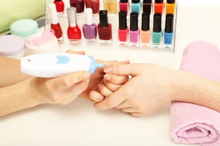 Manicure process in beauty salon, close up Stock Photo - 19046489