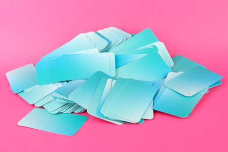 Business cards, on color background Stock Photo - 19046587