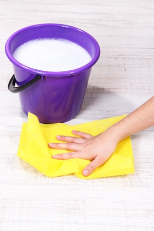 Washing the floor and all floor cleaning Stock Photo - 19056074