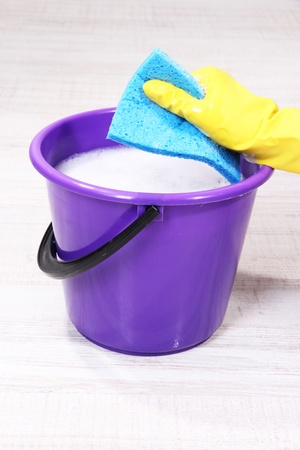 Washing the floor and all floor cleaning Stock Photo - 19271072