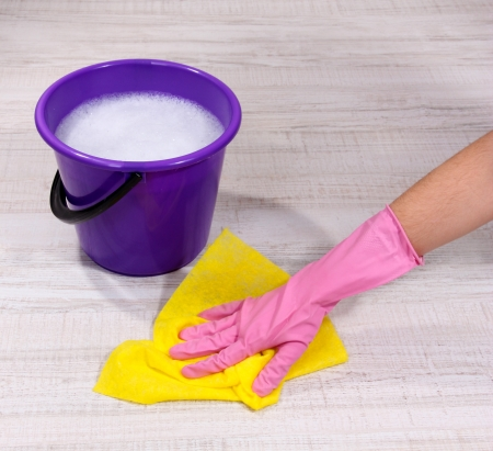 Washing the floor and all floor cleaning Stock Photo - 19270783