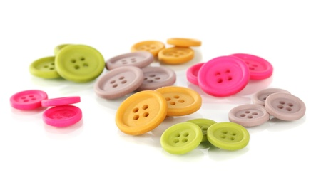 Buttons of different shapes, sizes and colors photo