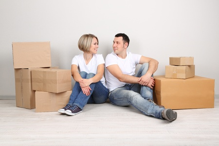 Young couple moving in new house Stock Photo - 21517747