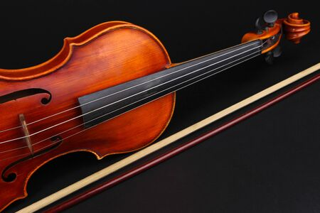 Classical violin on black background Stock Photo - 19303015