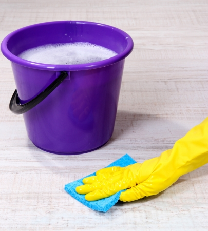 Washing the floor and all floor cleaning Stock Photo - 19344547