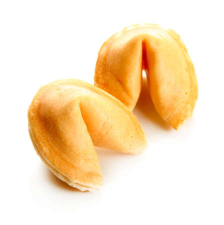 Fortune cookies, isolated on white photo
