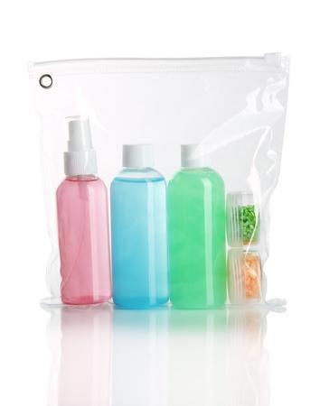 Hotel cosmetics kit isolated on white Stock Photo - 19430335