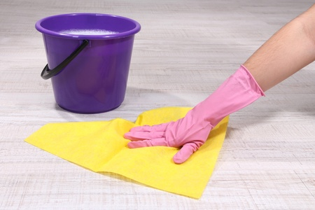 Washing the floor and all floor cleaning Stock Photo - 19412590