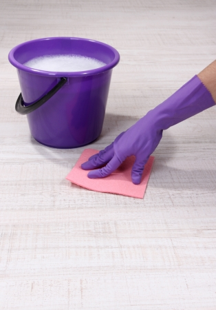 Washing the floor and all floor cleaning Stock Photo - 19728717