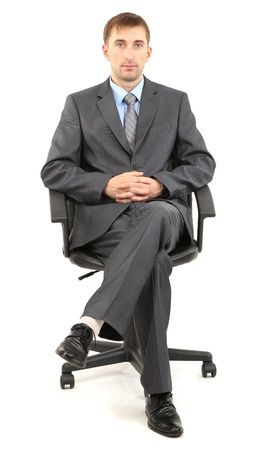 Young businessman isolated on white  Stock Photo - 21524293