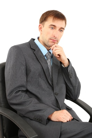 Young businessman isolated on white Stock Photo - 21524287