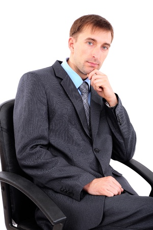 careerists: Young businessman isolated on white  Stock Photo