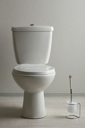 White toilet bowl in a bathroom Stock Photo - 19772848