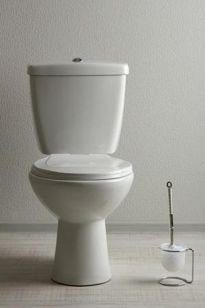 White toilet bowl in a bathroom Stock Photo - 19772848