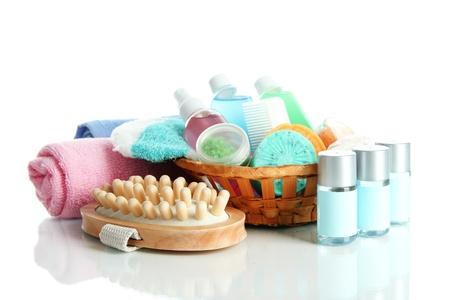 Hotel cosmetics kit isolated on white Stock Photo - 19784682