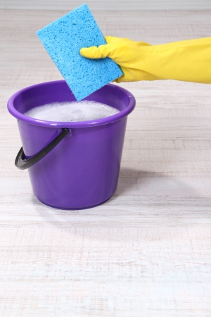 Washing the floor and all floor cleaning Stock Photo - 19786187