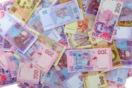 hryvna: Pile of Ukrainian money
