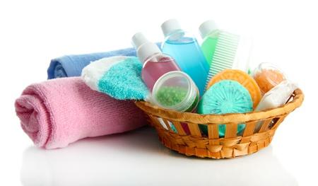Hotel cosmetics kit isolated on white Stock Photo - 20123894