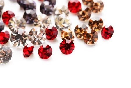 gem stones: Beautiful gem stones, isolated on white