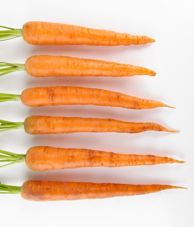 Carrots, isolated on white Stock Photo