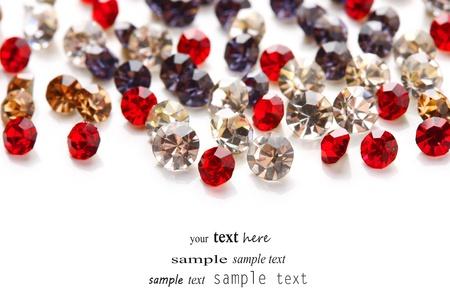 piedras preciosas: Piedras preciosas hermosas, aislados en blanco
