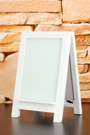 White photo frame for home decoration on stone wall background Stock Photo - 20251260
