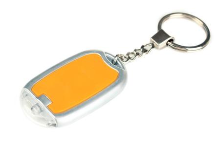 Keychain isolated on white photo
