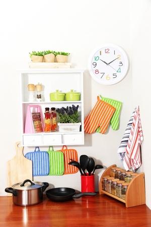 armoire cuisine: Belle cuisine int?rieure  Banque d'images