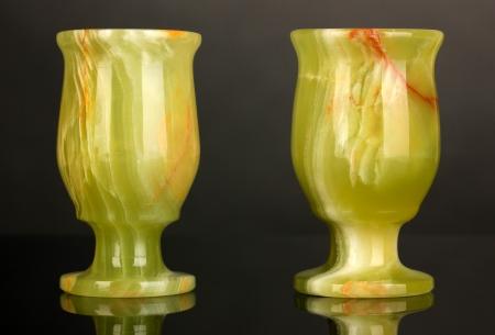 onyx: Onyx cups on grey background Stock Photo