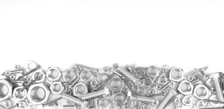 Bolts, screws, nuts isolated on white Reklamní fotografie