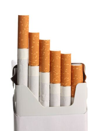 Box of cigarettes, isolated on a white photo