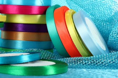 favours: Bright ribbons close-up