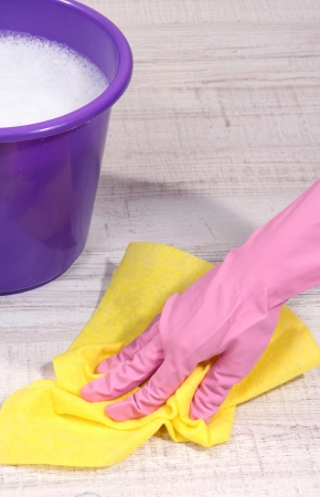 Washing the floor and all floor cleaning Stock Photo - 20653131